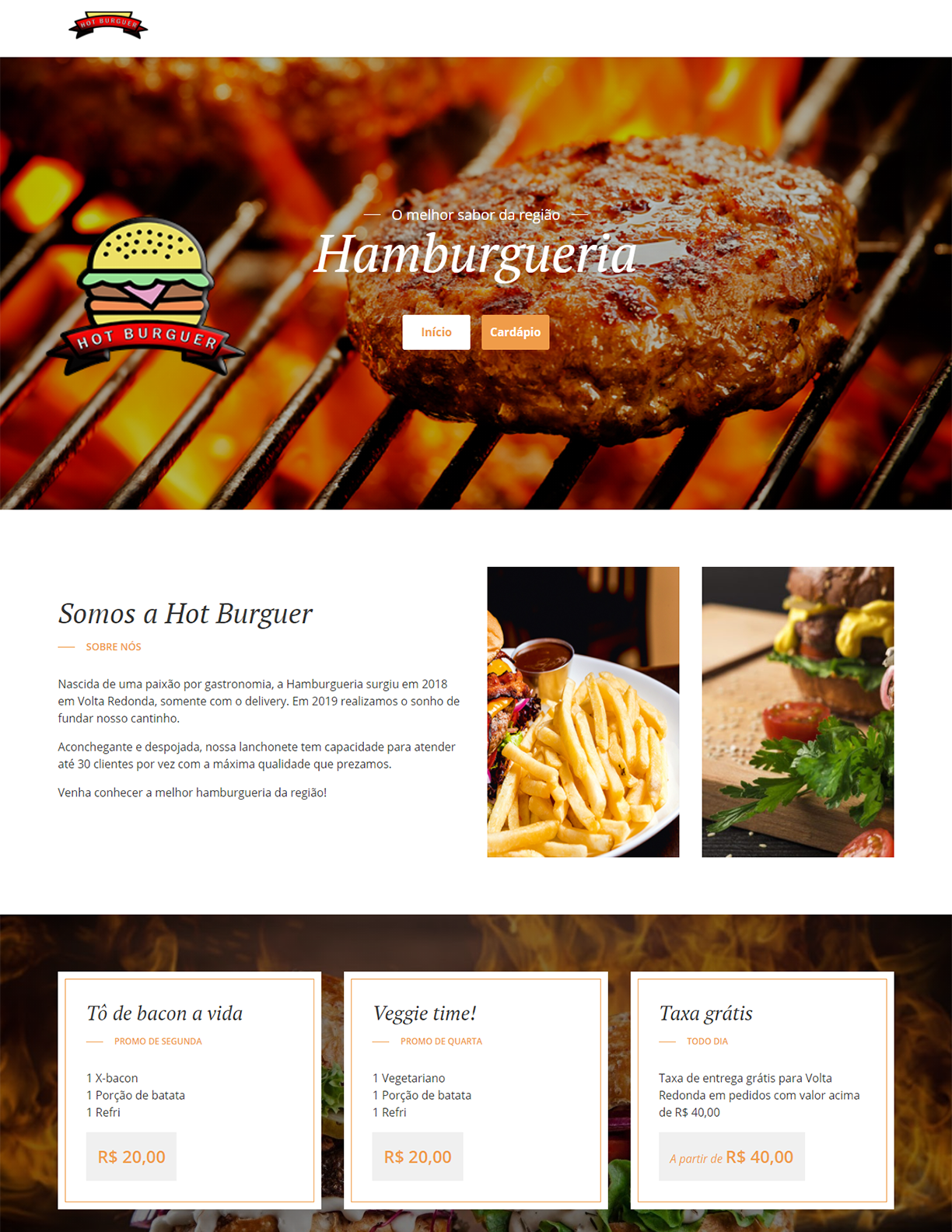Site - Hot Burger
